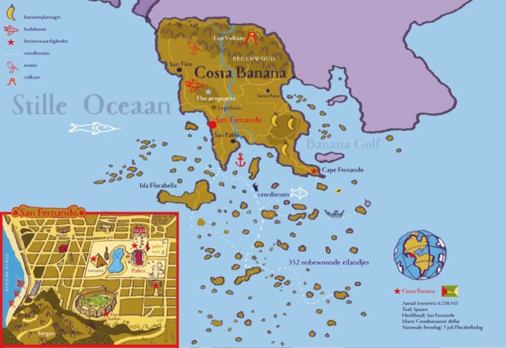 landkaart costa banana